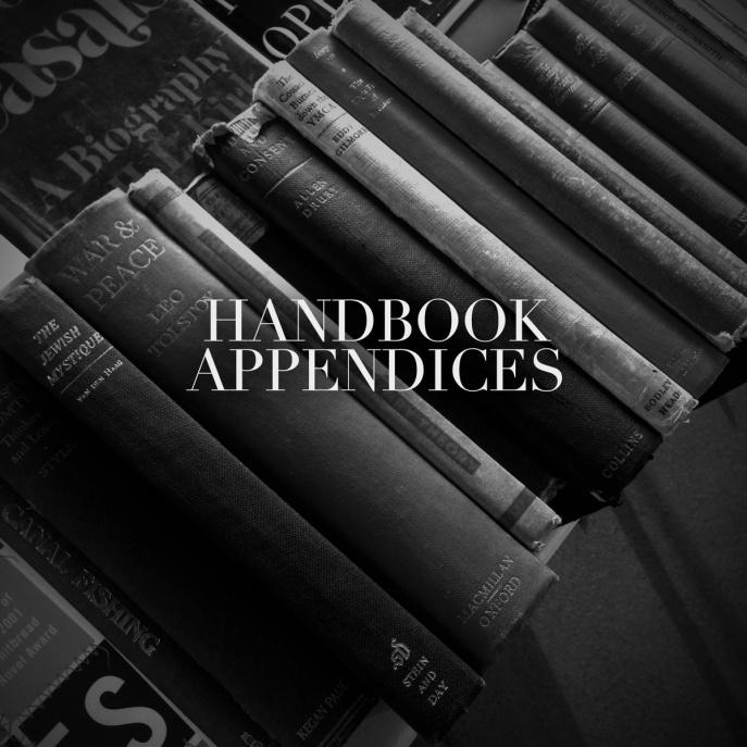 Handbook - Appendices